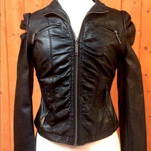 Arden B Black Faux Leather Moto Femme Jacket S